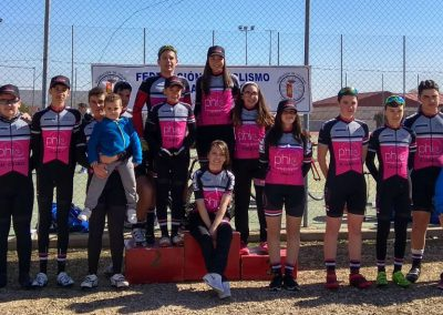 Equipo PHI GP Ciclista Cadete Podium